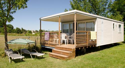 Mobile home avec 2 chambres en Ardèche